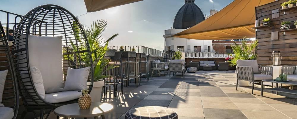terraza hotel vincci vía 66 madrid