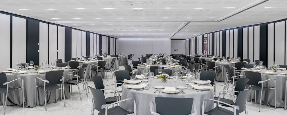 zona para eventos en el hotel vincci soma de Madrid