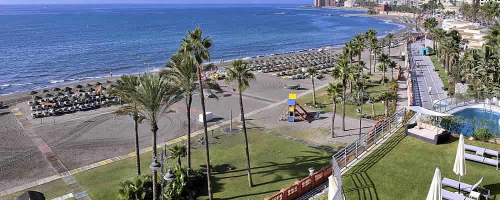 Vistas de la playa Aleysa del hotel Vincci Selección Aleysa Boutique & Spa 5 estrellas Málaga