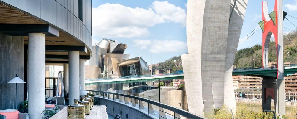 Vistas desde la terraza mirador del hotel Vincci Consulado de Bilbao 4 estrellas Bilbao