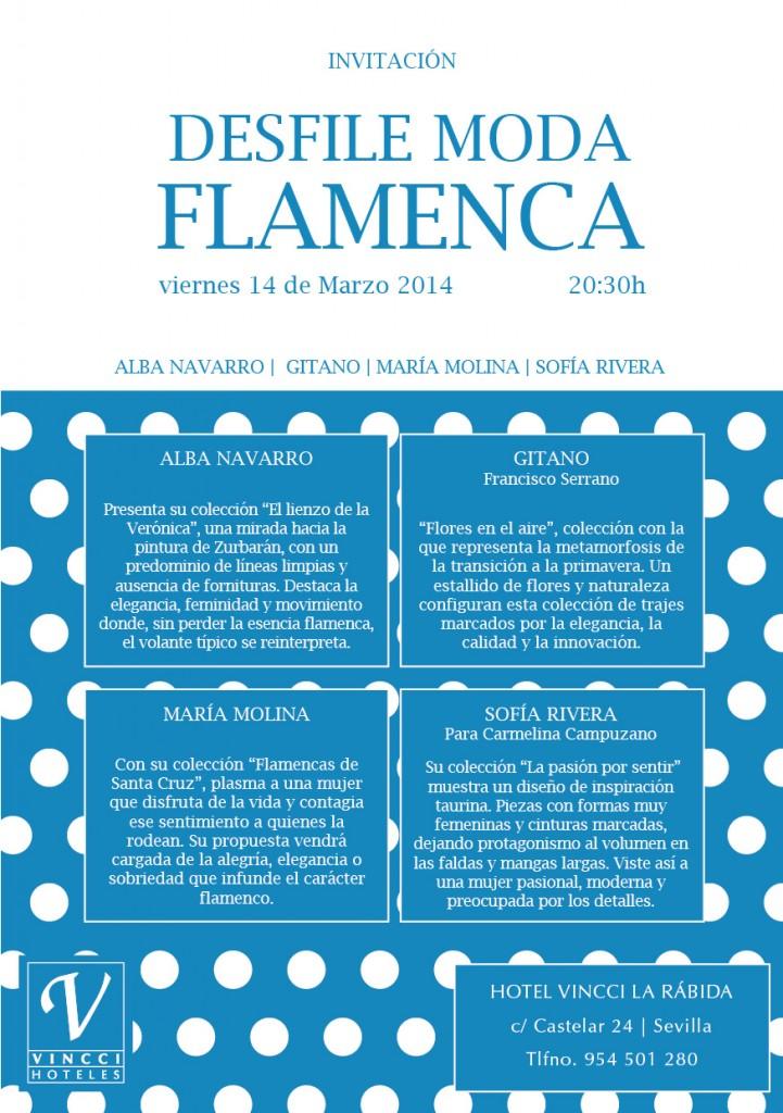 Invitacion desfile moda flamenca