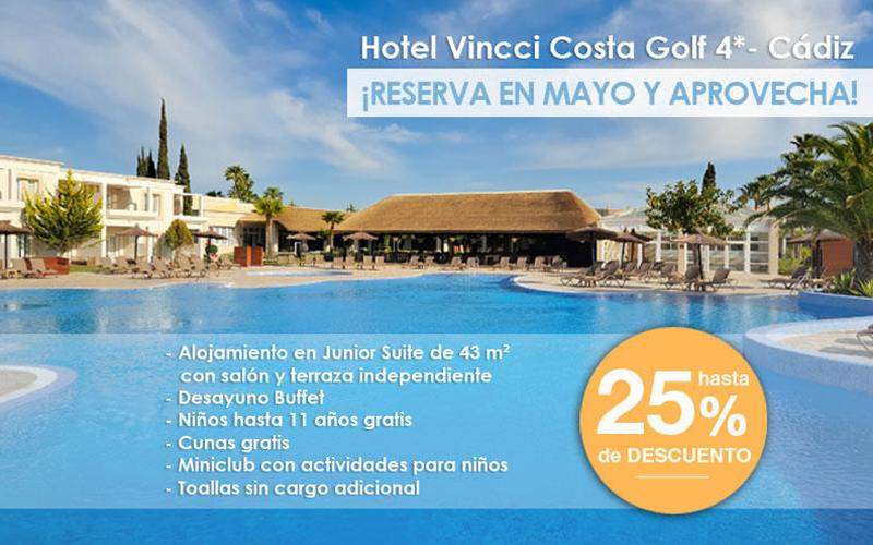 Sales of Vincci Costa Golf 4* Cádiz, Sancti Petri.