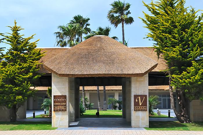 Entrance to Vincci Costa Golf 4 * Cadiz, Sancti Petri.