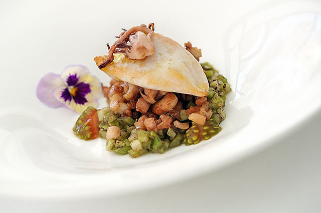 Dish at the Soma Restaurant, Madrid