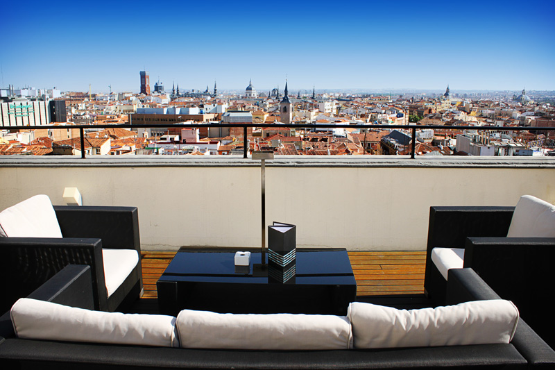 Views of Madrid from the hotel Vincci Capitol 4* Madrid.