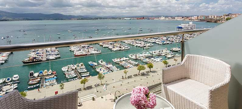 Views from the hotel Vincci Puertochico 4* Santander.