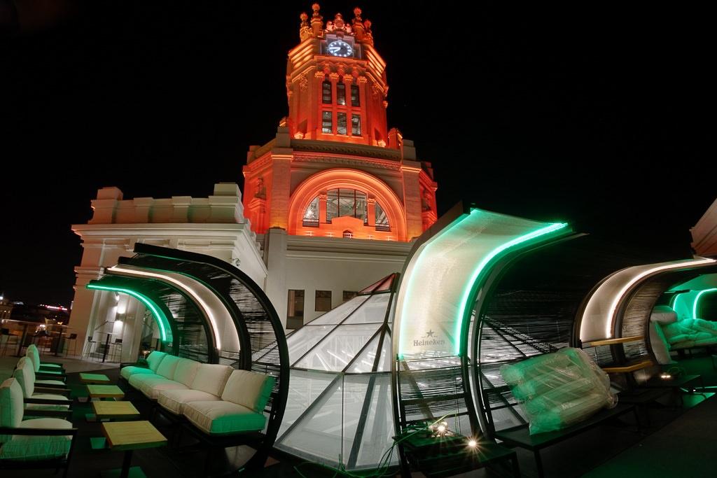 Rooftop terrace at the Palacio de Cibeles. / Photo: Adolfo-palaciodecibeles.com