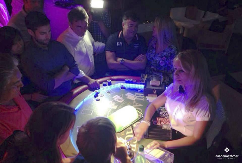 Casino Night' at the Beach Club Estrella del Mar, Marbella.