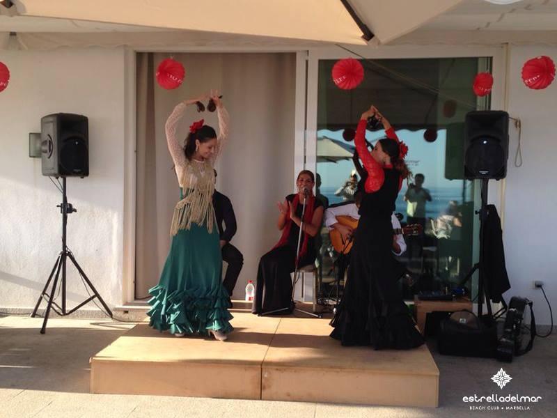 'Feria de Marbella' at the Beach Club Estrella del Mar, Marbella.