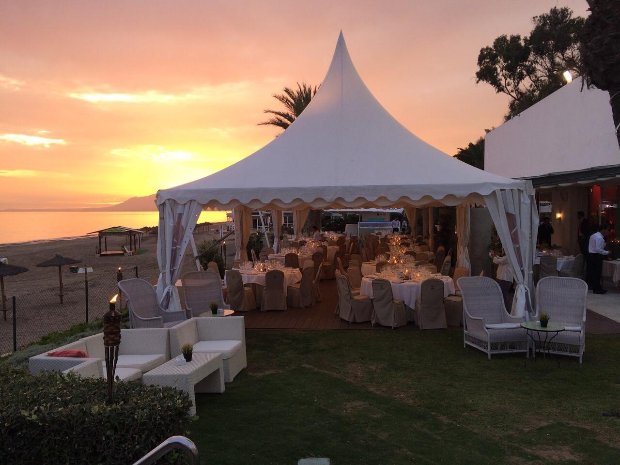 wedding at the Beach Club Marbella Spain
