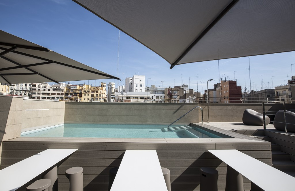 Hotel with pool in Valencia Vincci Mercat