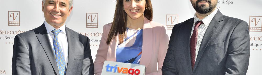 Vincci Selección Aleysa Boutique & Spa 5* receives Trivago's award for the hotel with the best online reputation