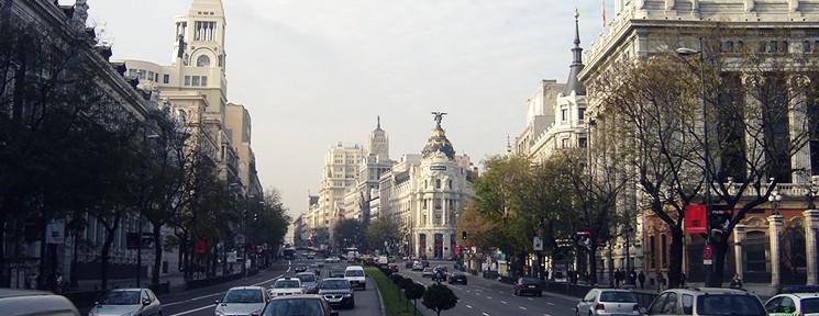 Calle Alcalá, Madrid. / Foto: Wikimedia Commons