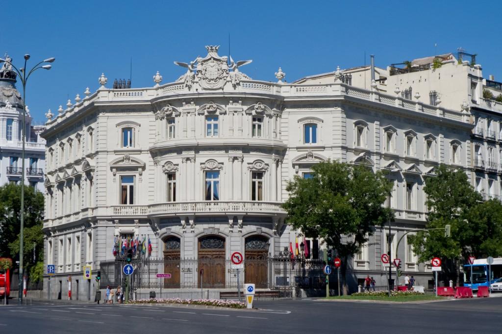 Fachada del Palacio de Linares, Madrid. / Foto: Wikipedia.