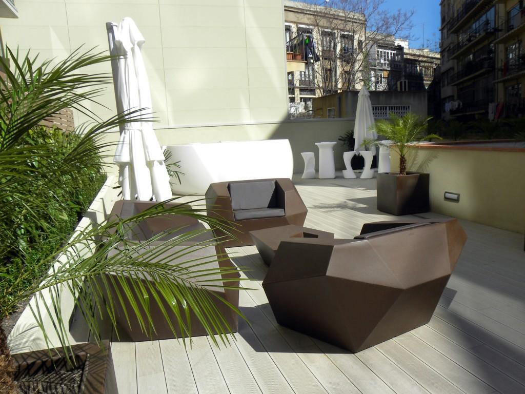 Terraza del hotel Vincci Gala 4* Barcelona.