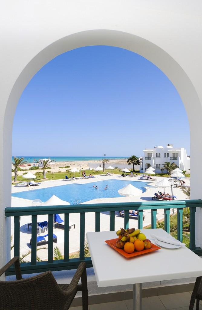 Vistas desde una habitación del hotel Vincci Hélios Beach 4* Djerba.