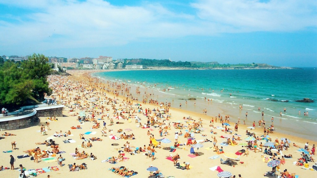 Playa del Sardinero, Santander. / Foto: Wikipedia.