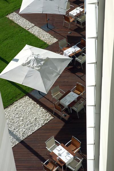 Jardín Japonés del hotel en Barcelona Vincci Marítimo 4*.