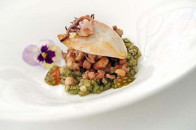 Plato en Soma Restaurante, hotel Vincci Soma 4* Madrid .