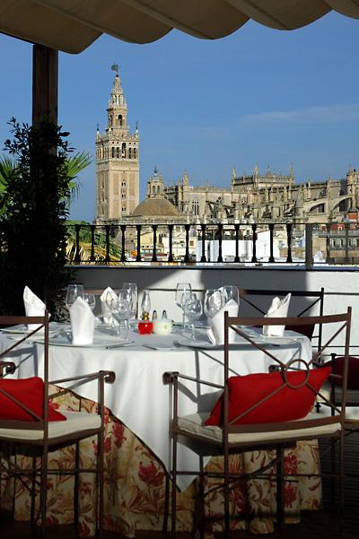 """Vistas desde el restaurante """"El Mirador"""" en el hotel Vincci La Rábida 4* Sevilla."""