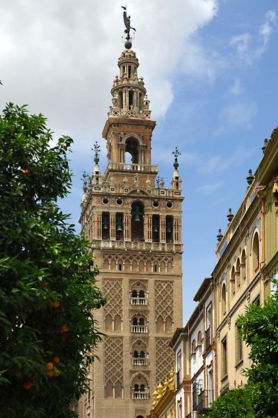 La Giralda de la Catedral de Sevilla.