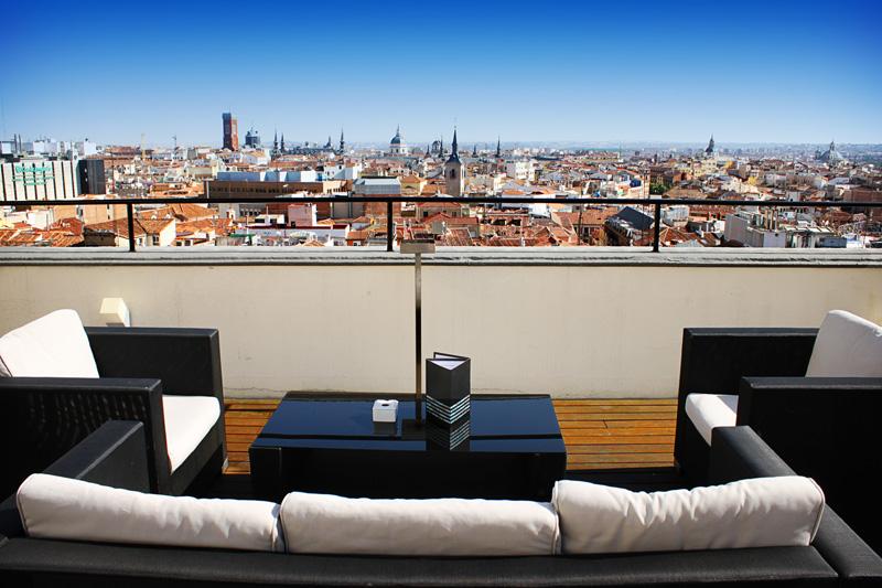 Vistas de Madrid desde el hotel Vincci Capitol 4* Madrid.
