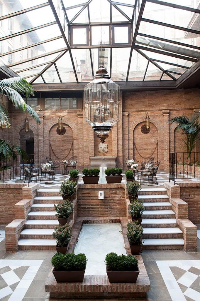 Patio del hotel Vincci Albaycín 4* Granada.