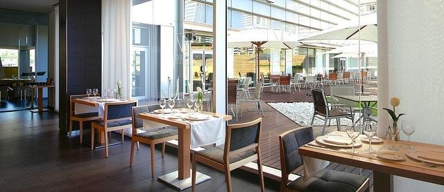 Restaurante Jardí de Mar, en el hotel Vincci Marítimo 4* Barcelona.
