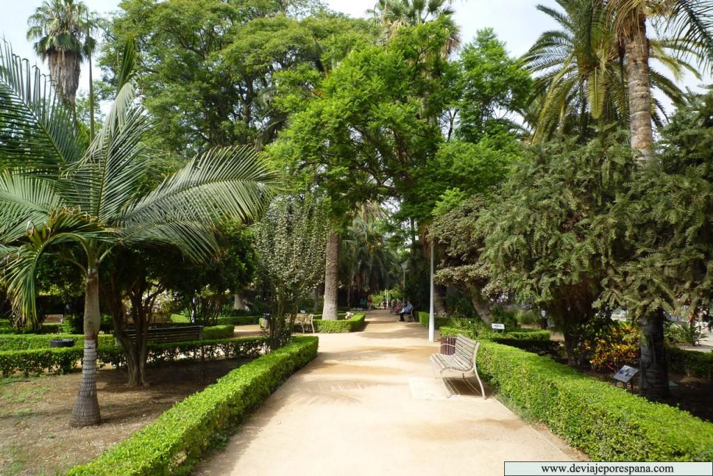 Parque de la Alameda, Parque de Málaga. / Foto: www.deviajeporespaña.com