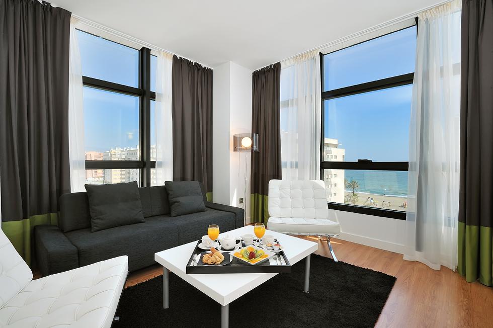 Habitación del hotel Vincci Málaga 4* Málaga.