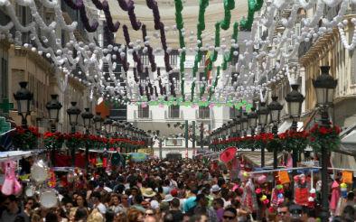 Feria del Centro en la calle Marqués de Larios, Málaga. / Foto: COPE.es