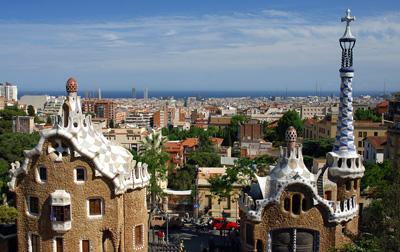 Vistas desde el Parque Güell, Barcelona.