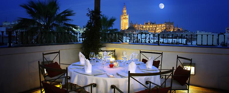 Vistas desde El Mirador de Sevilla, hotel Vincci La Rábida 4* Sevilla.