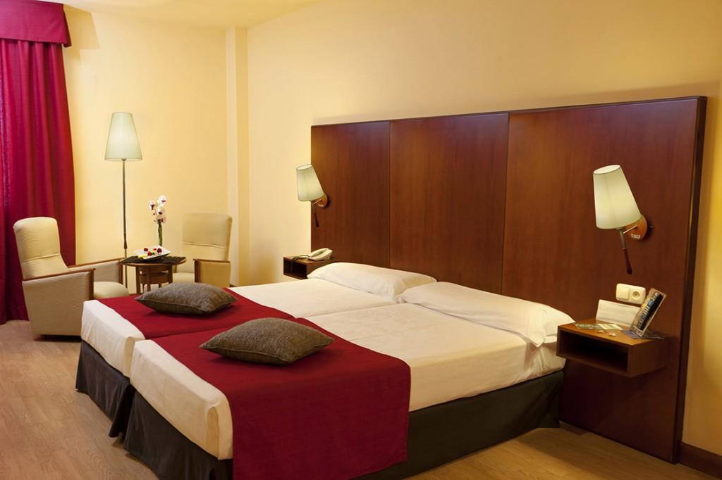 Habitación doble del hotel Vincci Ciudad de Salamanca 4*.