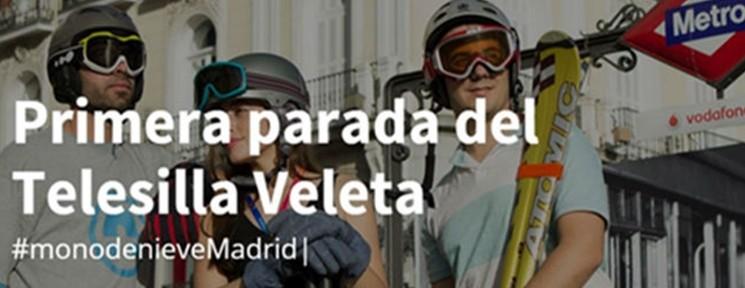 ¿Mono de Nieve? ¡Este fin de semana nieva en la Puerta del Sol de Madrid!