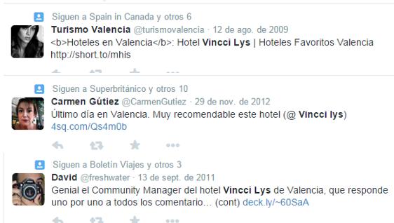 Opiniones hotel en Valencia Vincci Lys