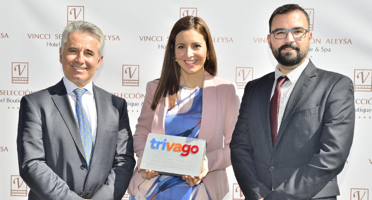 Vincci Selección Aleysa Boutique & Spa 5* recibe el premio al hotel con mejor reputación online de trivago