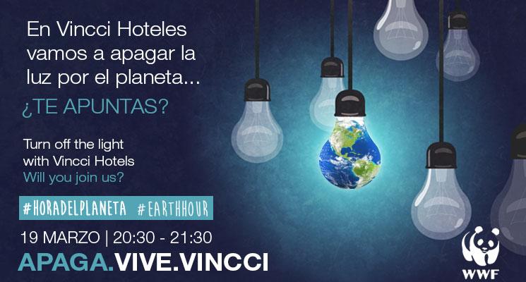 Vincci Hoteles se suma a la Hora del Planeta