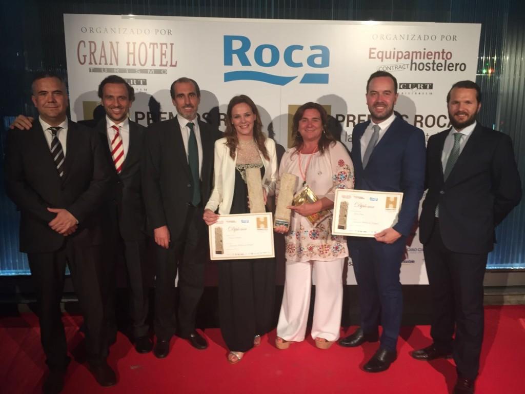 Equipo Vincci Hoteles en los premios Roca
