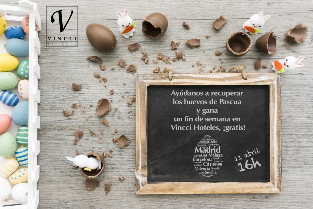 SORTEO en Facebook: recupera los huevos de Pascua y gana dos noches gratis en Vincci Hoteles
