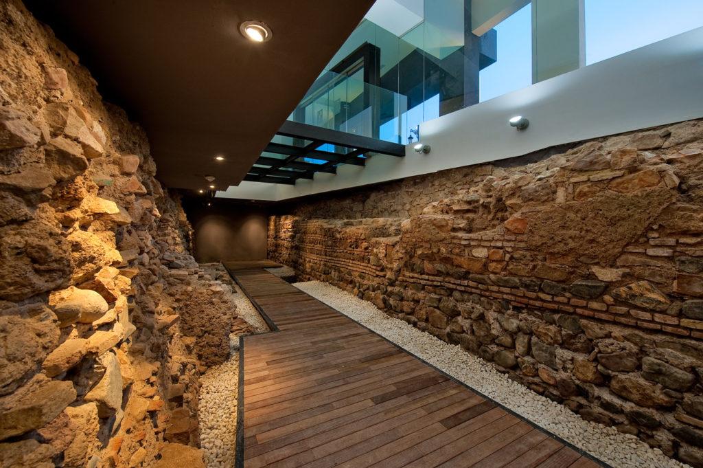 Detalle de la muralla de Málaga