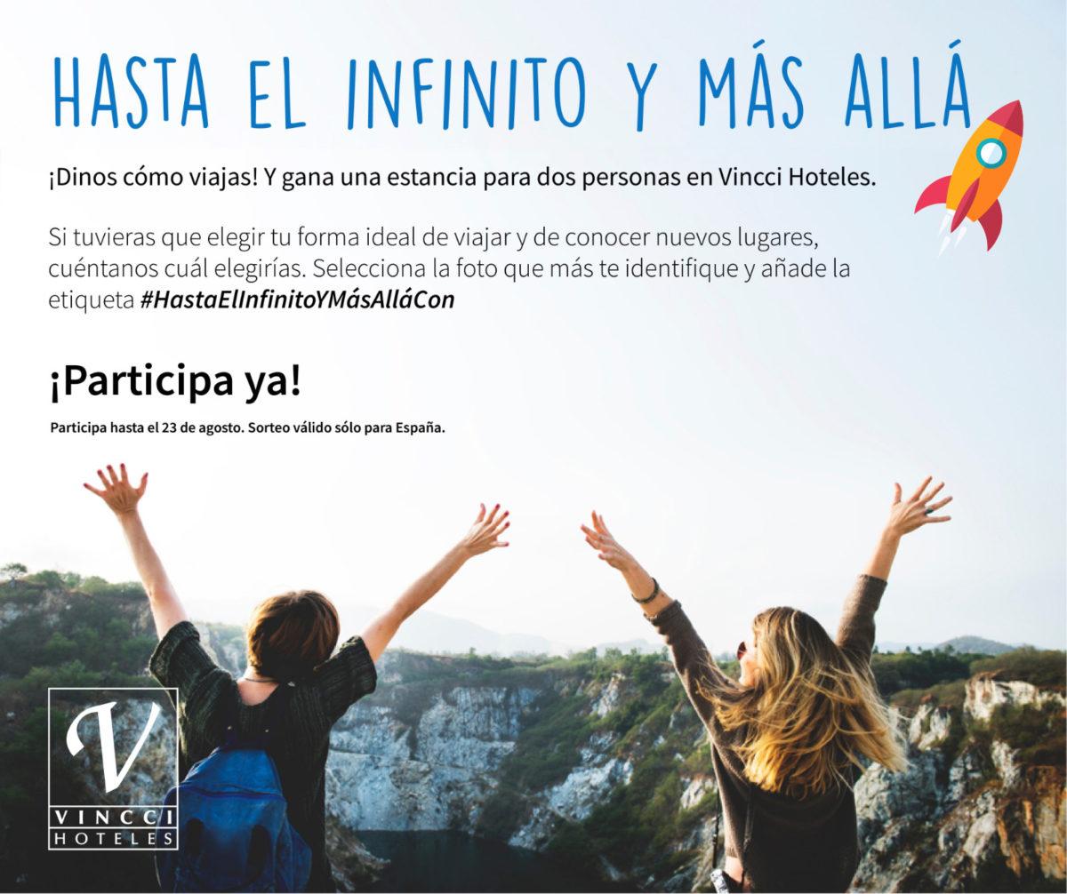 SORTEO en Facebook #HastaElinfinitoYMásAllá. Gana una estancia para dos personas.