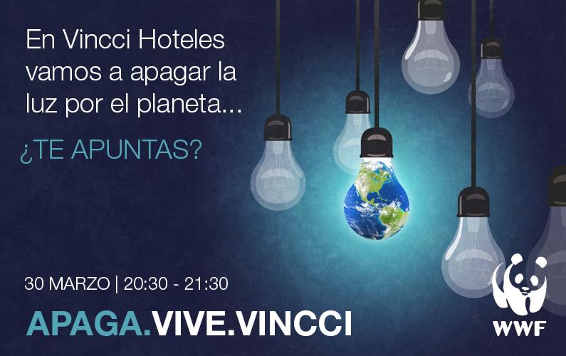 """Vincci Hoteles se suma un año más a """"La Hora del Planeta"""""""