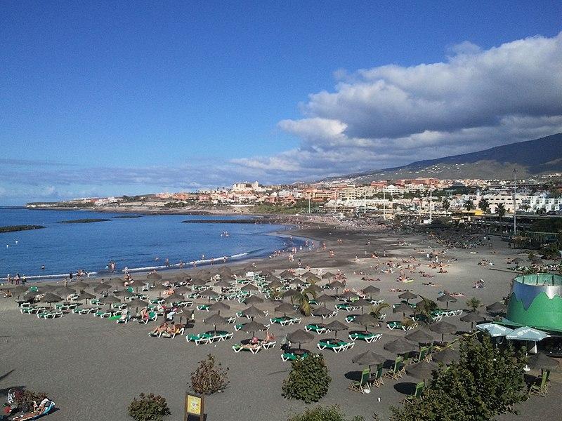Playa de Fañabé en Costa de Adeje Tenerife