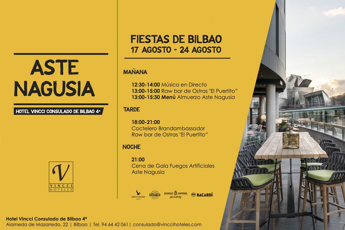 Vincci Consulado de Bilbao 4* se viste de largo para celebrar la Semana Grande de Bilbao ¡Viva la Aste Nagusia!
