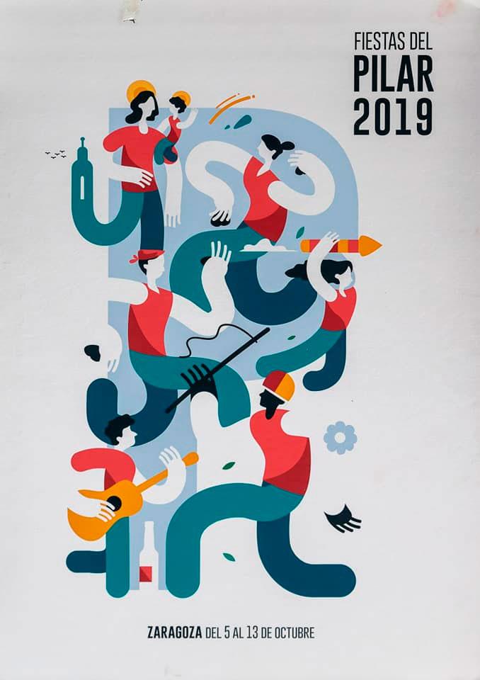 Cartel Fiestas del Pilar 2019 | Samuel Akinfenwa Onwusa