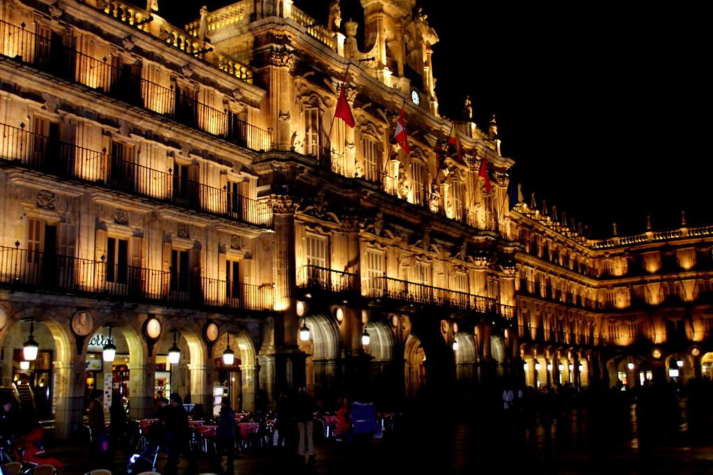 La Plaza Mayor de Salamanca de Noche