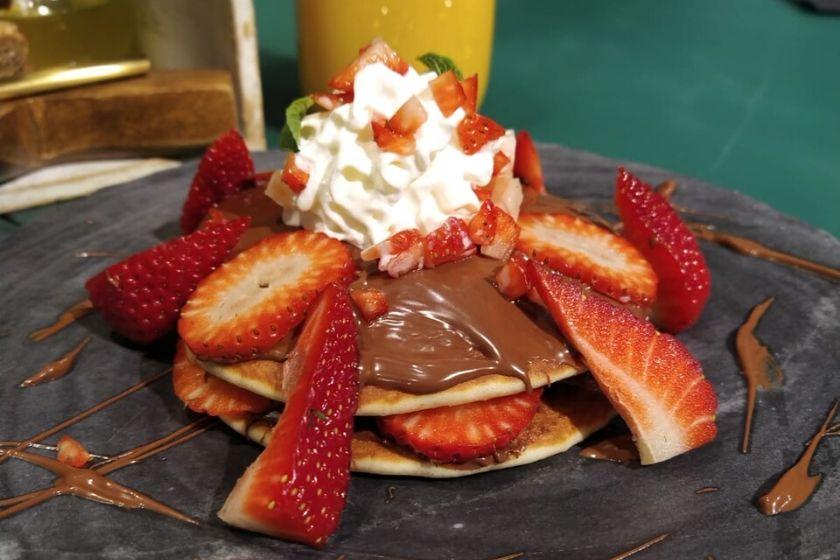 Pancake de nutella y fresón