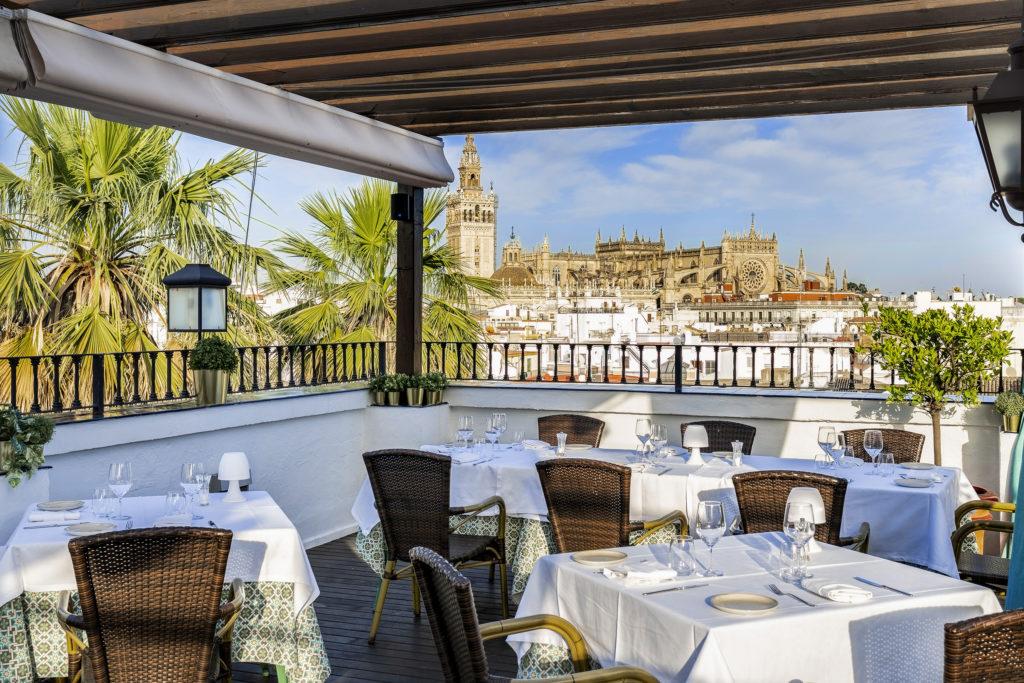 Terraza Restaurante El Mirador de Sevilla - Vincci La Rábida