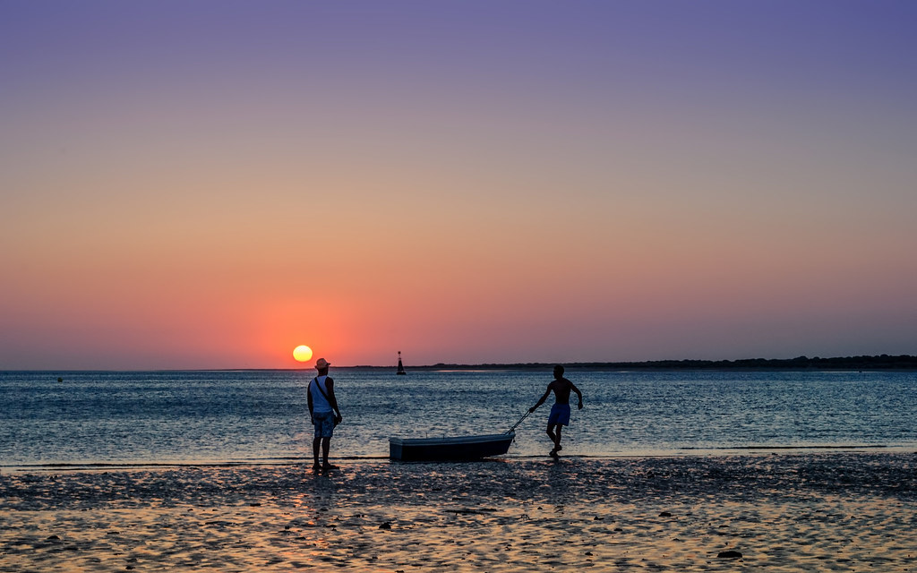 Atardecer en las playas de Sanlúcar de Barrameda